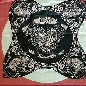 DKNY 100% silk scarf